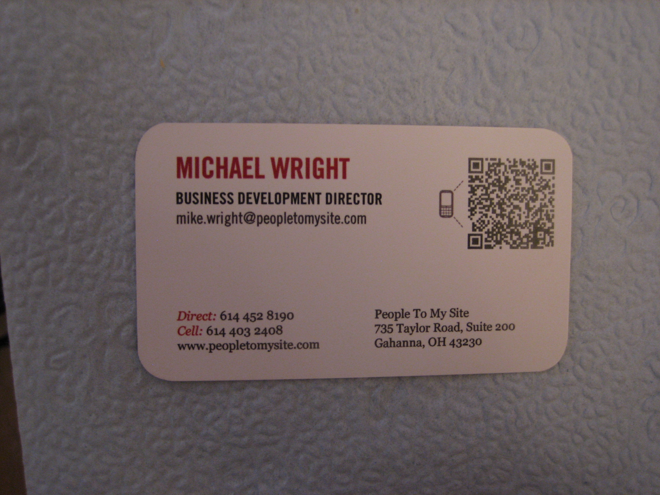 Qr codes deb consulting executive debce for Create qr code business card